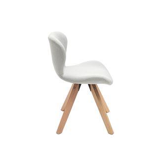 Chaise scandinave tissu gris pieds bois clair ANYA Achat & prix