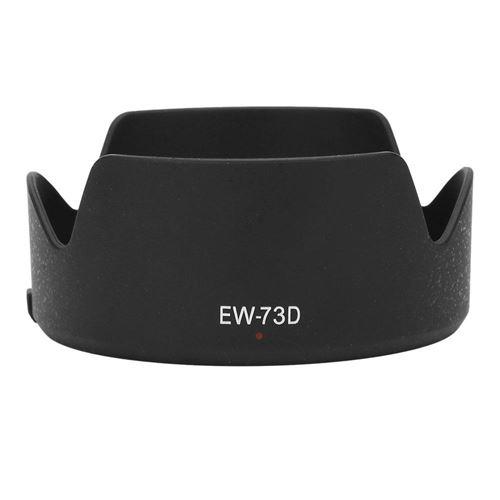 Capuchon d'objectif de caméra en plastique de qualité EW-73D pour Canon EF-S 18-135mm f / 3.5-5.6 IS