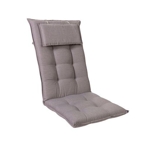 Coussin de chaise de jardin -Blumfeldt Sylt -120 x 50 x9 cm -1 pièce -Gris platine