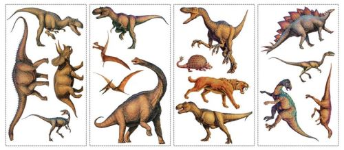 Stickers repositionnables dinosaures