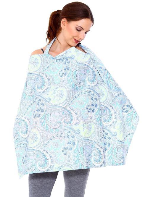 Couvertures d'allaitement Nursing Cover Bleu