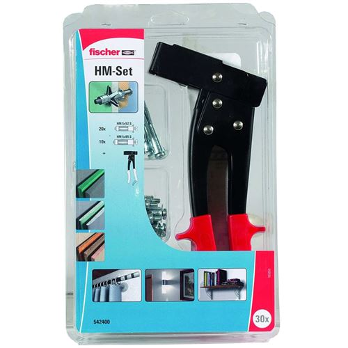 Fischer Kit de fixation des cavités d'assemblage HM Set Acier
