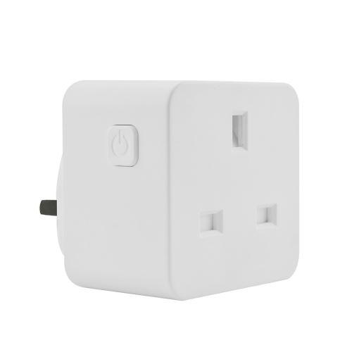 Smart WIFI Prise D'Alimentation Uk Plug Commutateur pour Amazon Alexa / Accueil Google App Contrôle Blanc Pl290