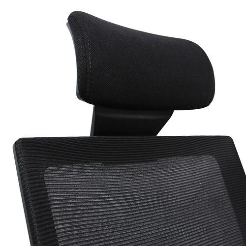 Chaise bureau fauteuil CAPTIVA assise tissu dossier maille noir bleu hjh OFFICE
