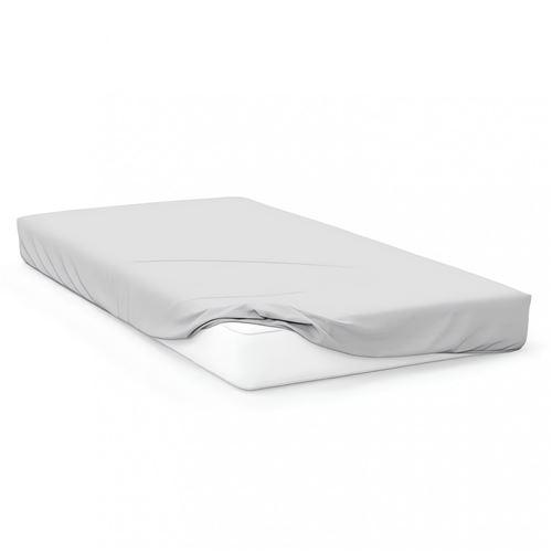 Drap housse en coton 57 fils 60x120 cm BEBE blanc, par Soleil d'ocre