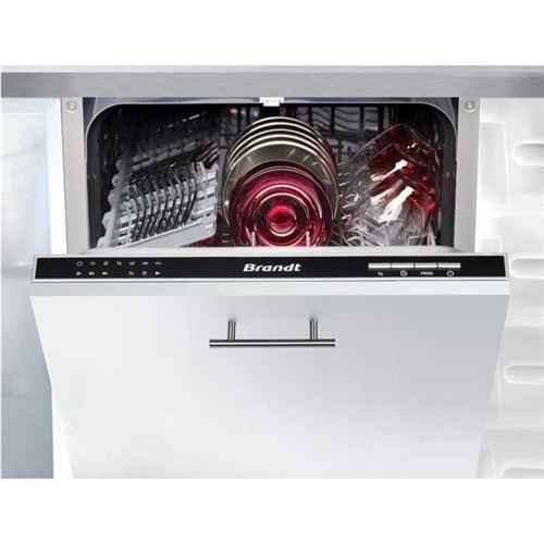 Brandt VS1010J - Lave-vaisselle - intégrable - largeur : 44.8 cm - profondeur : 54 cm - hauteur : 81.5 cm - noir