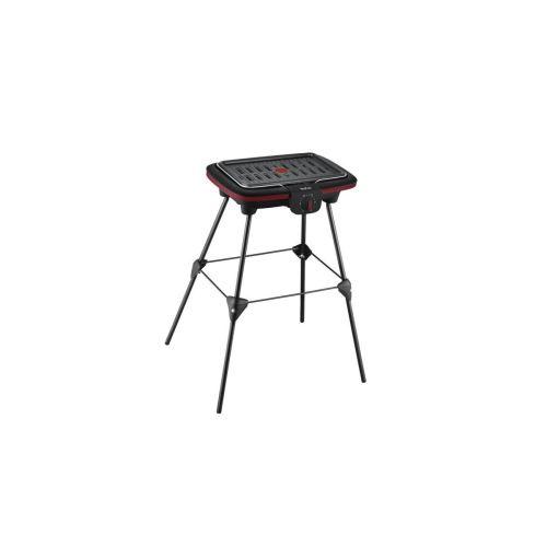 Barbecue électrique sur pieds Tefal Easy Grill Compact CB902012 2300 W Noir et Rouge