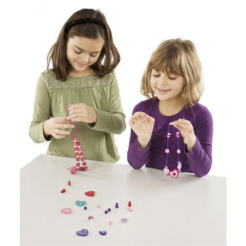 Kit créatif Melissa & Doug Ensemble de perles en bois Petits amis