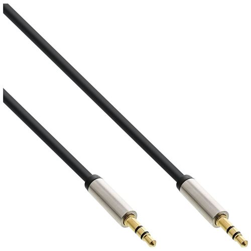 Câble audio InLine® Slim 3.5mm M / M, stéréo, 1 m