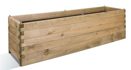 Jardinière en bois rectangulaire Oléa 180