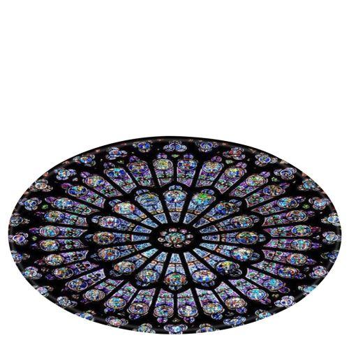 Notre-Dame de fenêtre en verre éléments Couverture ronde de bain tapis 120cm BT552