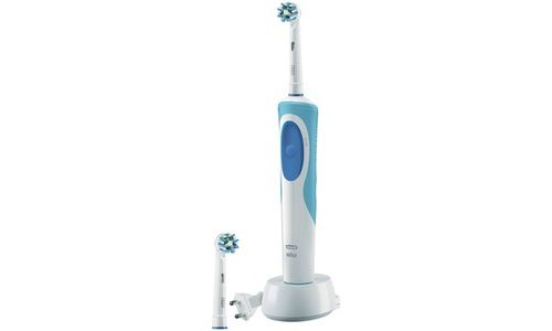 Brosse à dents électrique Oral B Vitality CrossAction Blanc et Bleu