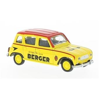 MiniatureMiniature Déjà MontéeNorev Renault 4JaunerougeCycliste Bergerf1964Voiture 1 64 DE2W9IHY