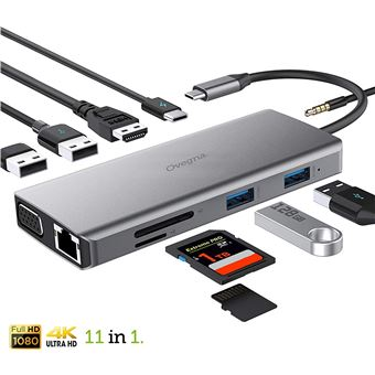 Hub USB C Hub Type C en aluminium pour adaptateur MacBook