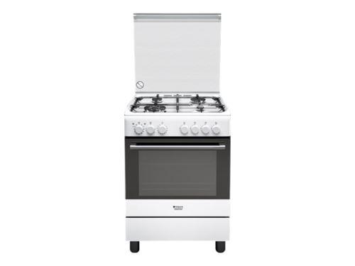 Hotpoint Ariston H6TMH2AF (W) IT - Cuisinière - pose libre - largeur : 60 cm - profondeur : 60 cm - hauteur : 85 cm - blanc