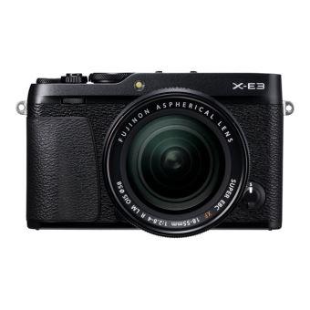 Fujifilm X Series X-E3 - Digitale camera - spiegelloos - 24.3 MP - APS-C - 4K / 30 beelden per seconde - 3x optische zoom XF 18-55mm R LM OIS lens - Wi-Fi, Bluetooth - zwart