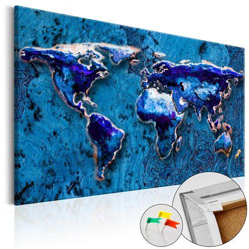 Tableau en liège | Cobalt Immersion [Cork Map] | 120x80 | |
