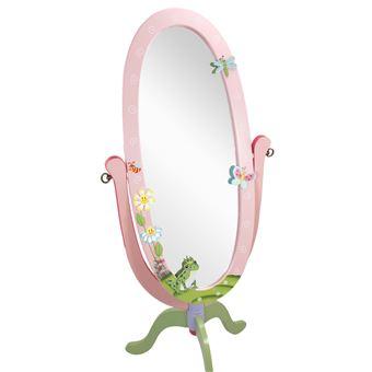 Miroir sur pied inclinable bois décoration intérieur chambre enfant ...