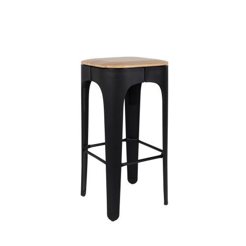 Tabouret de bar bois 73cm Up High - Couleur - Noir