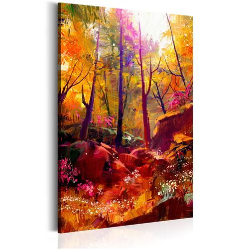 Tableau - Forêt peinte - Décoration, image, art | Paysages | Forêt |