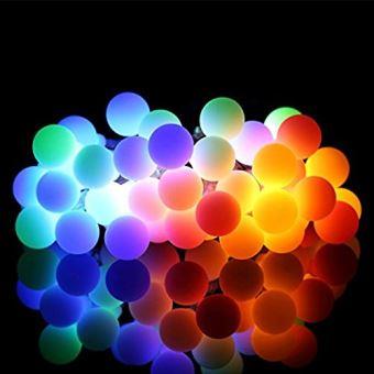 7 73 Sur Guirlande Lumineuses 40 Led Boules Longueur 4 5 Metres Multi Couleur Pour Noel Mariage Etc Classe Energetique A Luminaires Exterieur Achat Prix Fnac