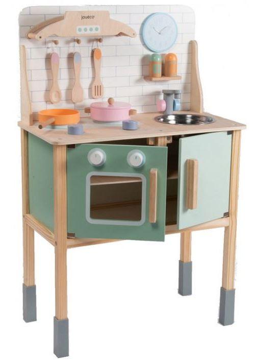 Jouéco cuisine pour enfants avec accessoires junior en bois 9-pièces