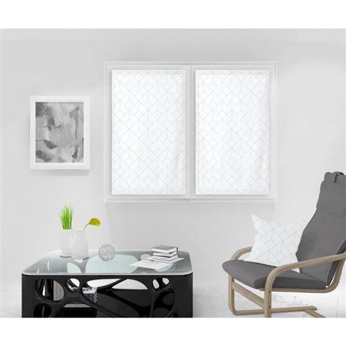Paire de Brise bise 60X120 cm KIEL blanc, par Soleil d'Ocre