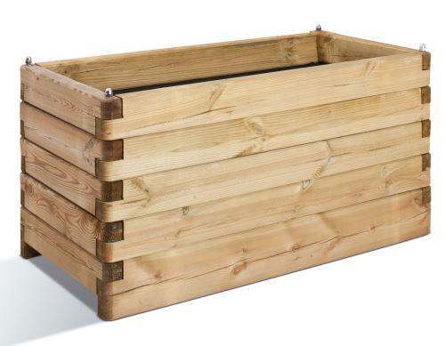Jardinière en bois rectangulaire Oléa 100