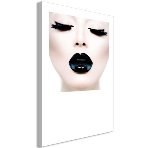 Paris Prix - Tableau Imprimé black Lips 80 X 120 Cm