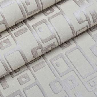 Papier Peint Moderne Geometrique Effet 3d Pour Salon Gris 5 3m2