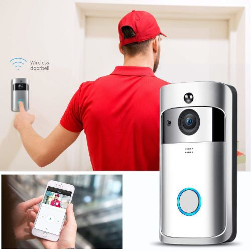 KuDiff-Video-Doorbell-with-LED-Ring-WiFi