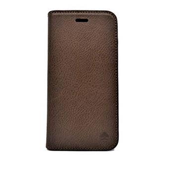 Porter Riley Coque iPhone X iPhone XS en Cuir Veritable Houe Premium Fine en Cuir veritable avec Socle Rabattable Coque Etui Portefeuille Brun Chocolat