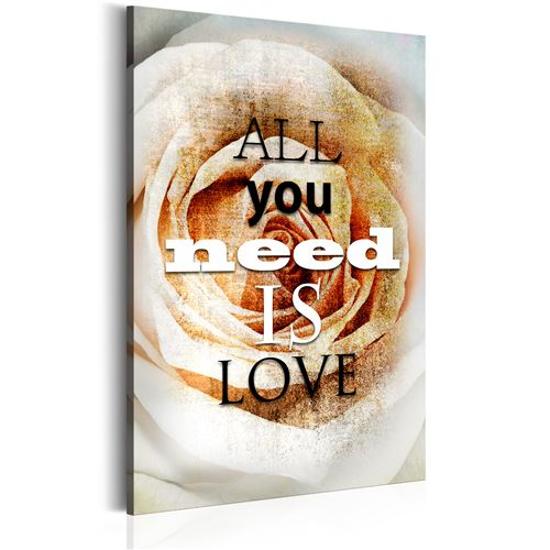 Tableau - Rose de l'amour - Décoration, image, art | 80x120 cm |