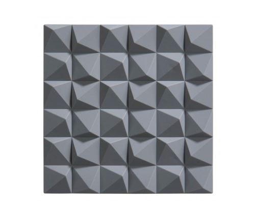 Dessous de Plat Design Origami Silicone Gris