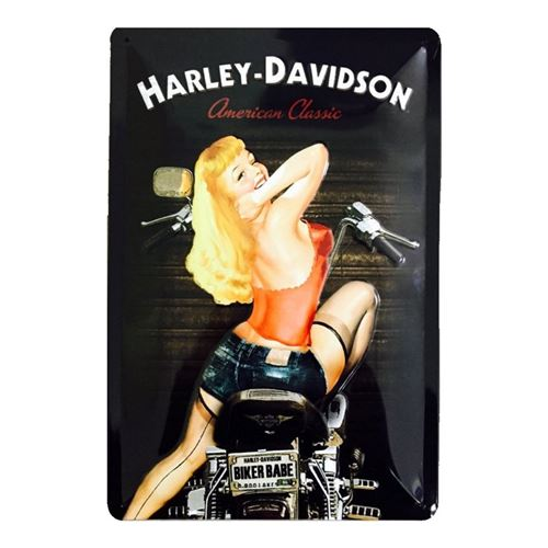 Harley Davidson american classic pin up - 20 x 30 cm