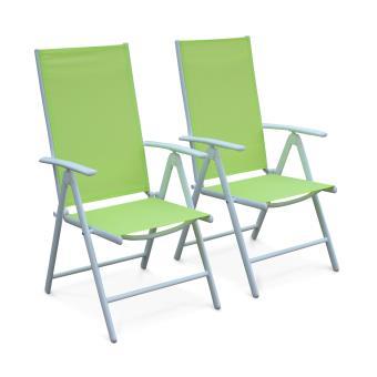 Lot de 2 fauteuils multi-positions Naevia en aluminium blanc ...