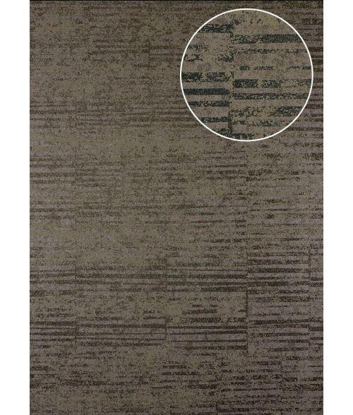 Papier peint à rayures Atlas 24C-6505-2 papier peint intissé lisse avec un dessin graphique et des accents métalliques brun bronze gris beige 7,035 m2