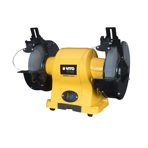 Touret à meuler Professionnel Diam 200 mm 520W VITOPOWER 230 V Meuleuse d'établi 2950 Tr/mn