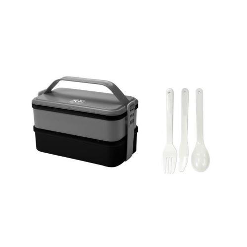 KITCHEN FRIDAY Lunch box KBOX3 2x600 ml gris