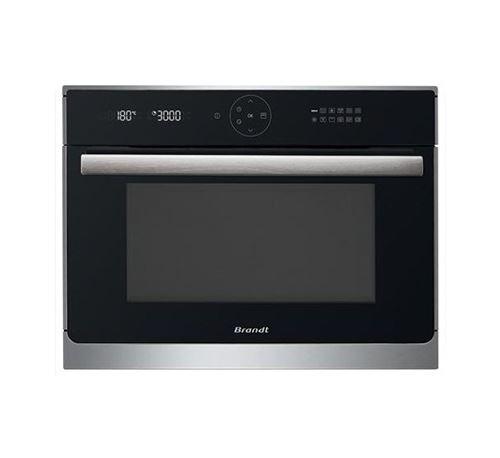 Brandt BKC6575X - Four micro-ondes grill - intégrable - 40 litres - 1000 Watt - noir/inox