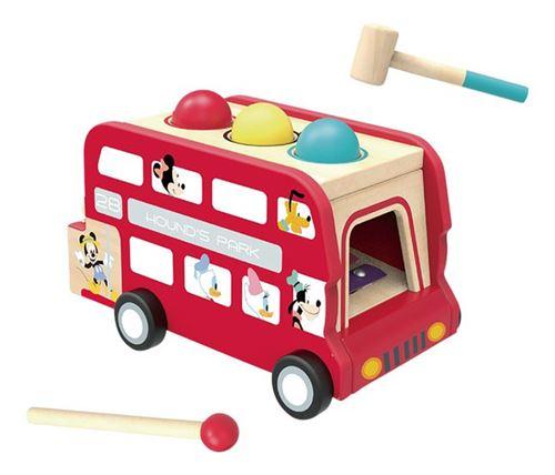 Disney figurine et xylophone Bus à impériale 30 cm bois rouge