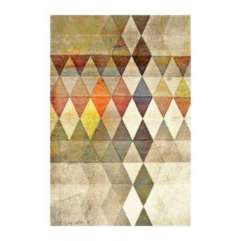 belis tapis 160x230 cm beige orange et jaune achat prix fnac - Tapis 160x230