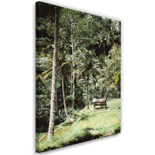 Impression sur toile Tableau Art Déco Canevas Jardin exotique 60x90