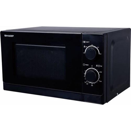 Sharp R-200BKW - Four micro-ondes monofonction - pose libre - 20 litres - 800 Watt - noir