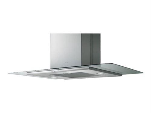 Samsung NK36M5070FS - Hotte - hotte décorative - largeur : 90 cm - profondeur : 45 cm - evacuation & recyclage - inox et verre