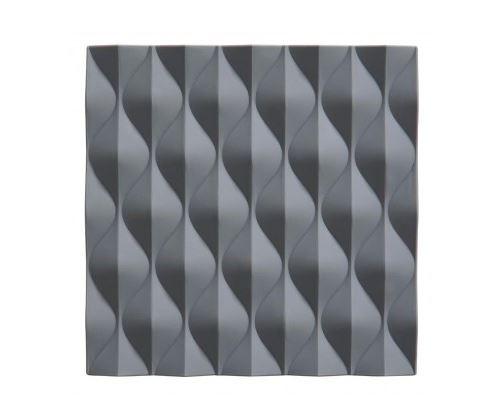 Dessous de Plat Design Silicone Gris Waves