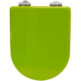 Abattant WC de Toilette Vert pistache en bois compresse MDF Double ...
