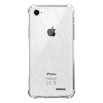 Coque pour iPhone 7/8/ iPhone SE 2020 anti-choc souple angles renforcés transparente Outline [Evetane®]