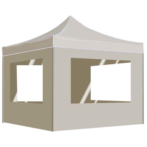 5 Sur Tente De Reception Pliable Avec Parois Aluminium 2x2 M