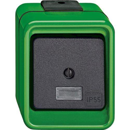 Merten 370677 Wippschalter, Wechsel, grün, AGRAR